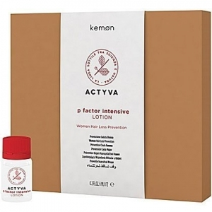 Kemon ACTYVA P Factor intensive lotion  na wypadanie włosów- dla kobiet 12x6ml