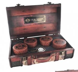 Dear Barber Vintage Walizka Drewno S MAŁA . Bez wyposażenia