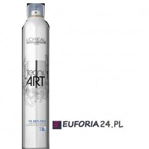 Loreal Tecni Art, Fix Anti-Frizz, spray .lakier mocno utrwalający, 400ml utrw 4
