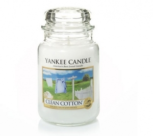 Yankee Candle świeca Classic Large Jar Clean Cotton 623g