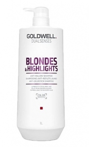 Goldwell Dualsenses Blondes&Highlights, szampon do włosów blond i z pasemkami, 1000ml