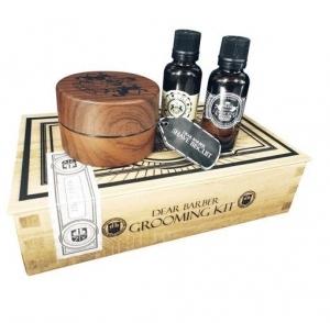 Dear Barber IV Shave Care Zestaw - mydło do golenia 100ml, olejek do golenia 30ml, perfumy 30ml