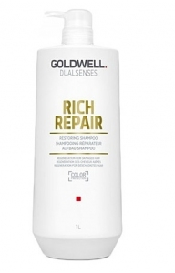 Goldwell DLS  Rich Repair, szampon do włosów zniszczonych, 1000ml