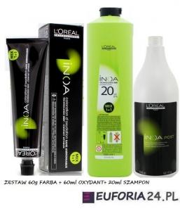 Loreal Inoa ODS2, zestaw do koloryzacji bez amoniaku: farba60ml + oksydant60ml + szampon 20ml